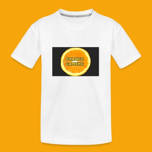 Orange_Logo_Black - Teenager Premium Organic T-Shirt