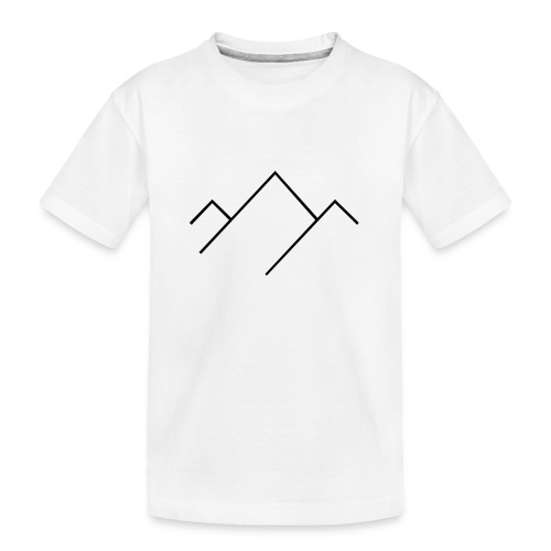 Natural Sports Hub icon mountain - Teenager Premium Bio T-Shirt