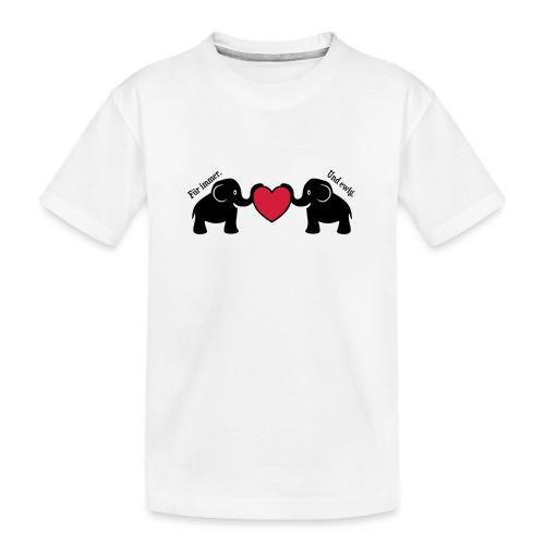Elefanten Liebe Herz Immer Ewig Verliebt - Teenager Premium Bio T-Shirt