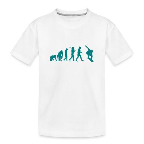 evolution_of_snowboarding - Teenager premium biologisch T-shirt
