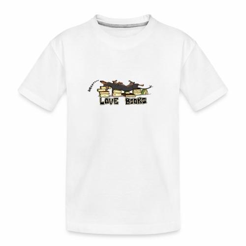 Love books - Ekologiczna koszulka młodzieżowa Premium