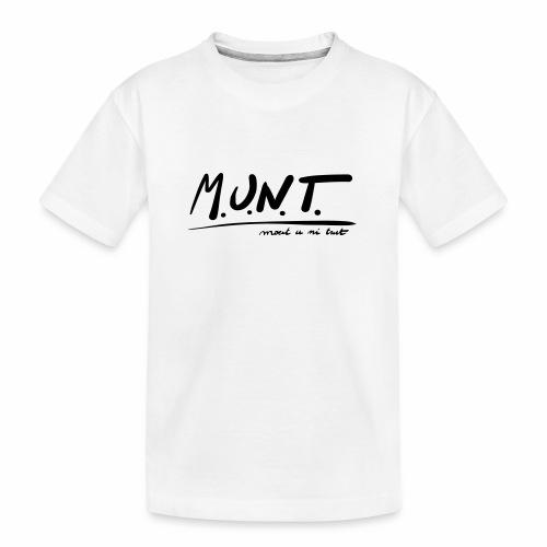 Munt - Teenager premium biologisch T-shirt