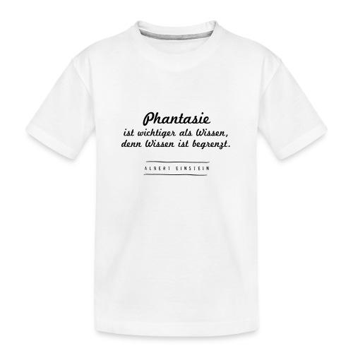 Phantasie vs. Wissen - Teenager Premium Bio T-Shirt