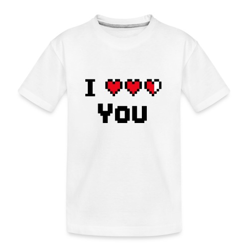 I pixelhearts you - Teenager premium biologisch T-shirt