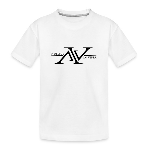 Nullius In Verba Logo - Teenager Premium Organic T-Shirt