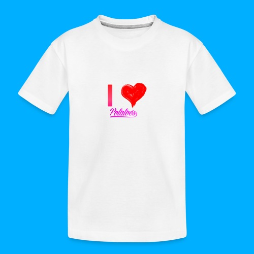 I Heart Potato T-Shirts - Teenager Premium Organic T-Shirt