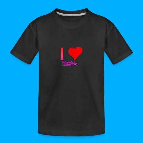 I Heart Potato T-Shirts - Teenager Premium Organic T-Shirt