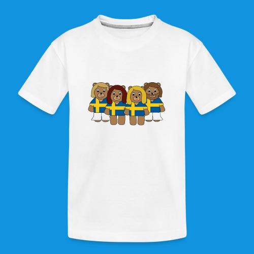 Abba Sweden Bears.png - Teenager Premium Organic T-Shirt