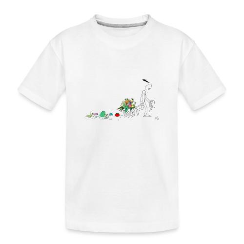 frukt og grønt handleveske - Premium økologisk T-skjorte for tenåringer