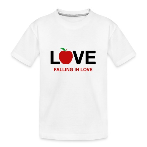 Falling in Love - Black - Teenager Premium Organic T-Shirt