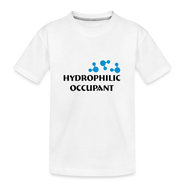 Hydrophilic Occupant (2 colour vector graphic)