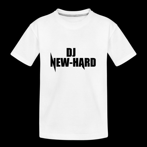 DJ NEW-HARD LOGO - Teenager premium biologisch T-shirt