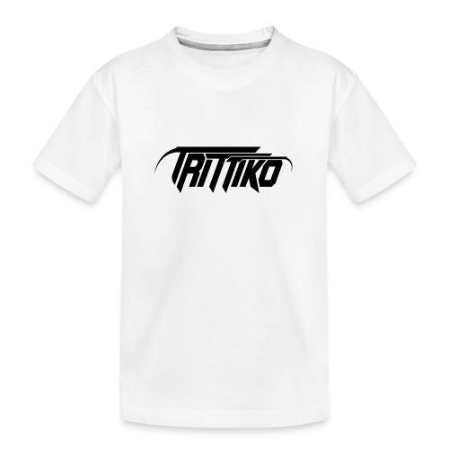 Trittiko Logo Schwarz - Teenager Premium Bio T-Shirt