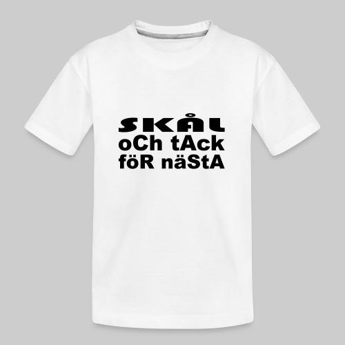 Skål Och Tack - Ekologisk premium-T-shirt tonåring