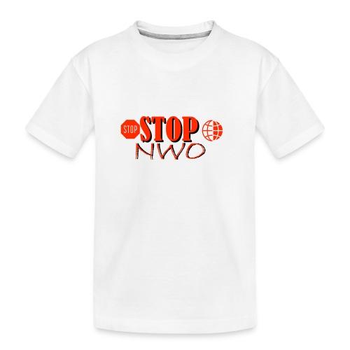 STOPNWO1 - Ekologiczna koszulka młodzieżowa Premium