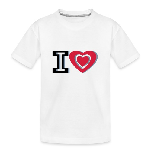 I LOVE I HEART - Teenager Premium Organic T-Shirt