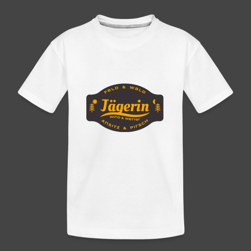 Das Jägerin-Shirt für aktive Jägerinnen - Teenager Premium Bio T-Shirt
