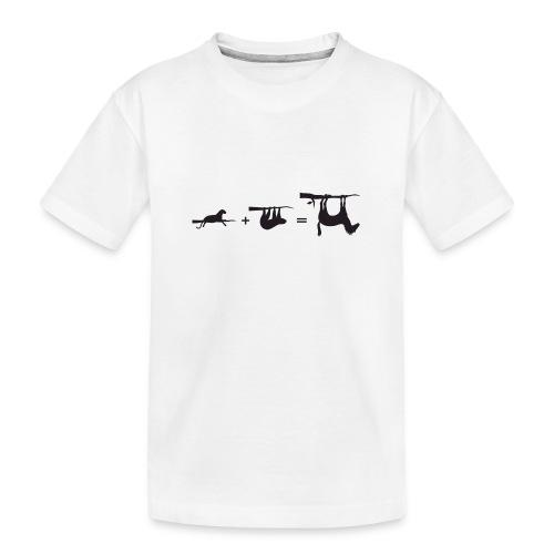 Lui paard Formule Luipaar - Teenager premium biologisch T-shirt
