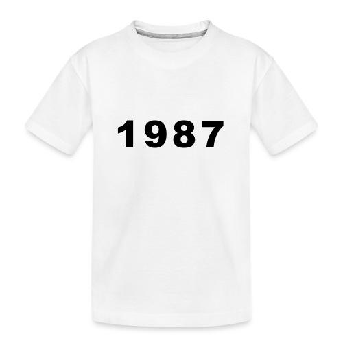 1987 - Teenager premium biologisch T-shirt