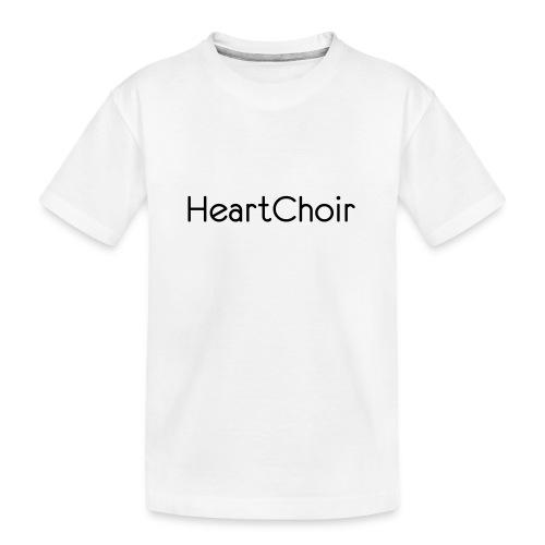 schriftzug heartchoir - Teenager Premium Bio T-Shirt