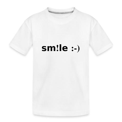 smile - sorridi - Maglietta ecologica premium per ragazzi