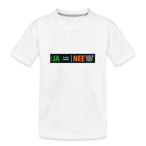 Ja ik maak websites - Teenager premium biologisch T-shirt