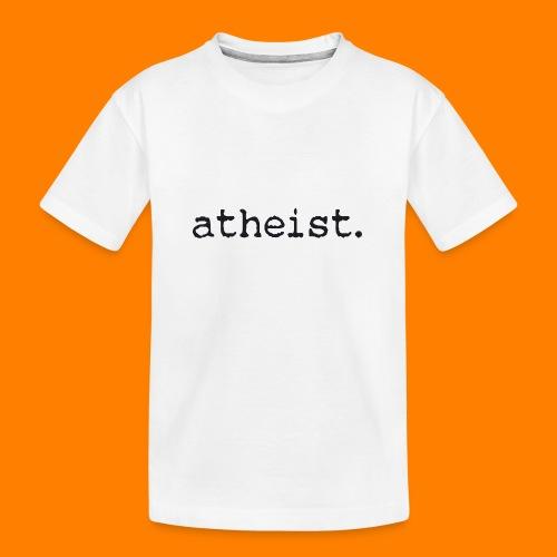atheist BLACK - Teenager Premium Organic T-Shirt
