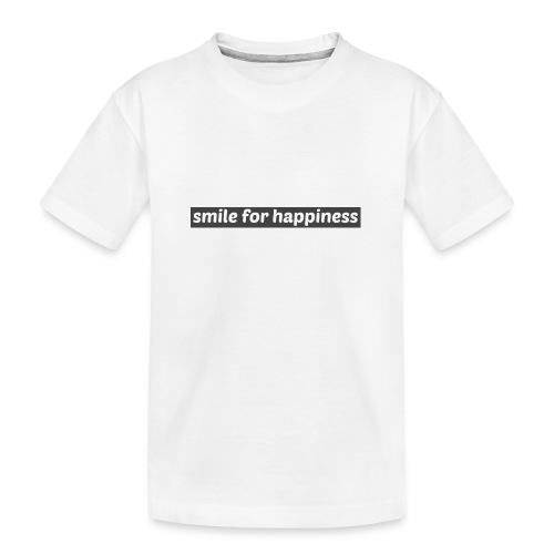 smile for happiness - Ekologisk premium-T-shirt tonåring