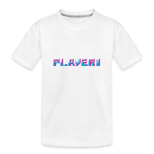 Arcade Game - Player 1 - Teenager Premium Organic T-Shirt