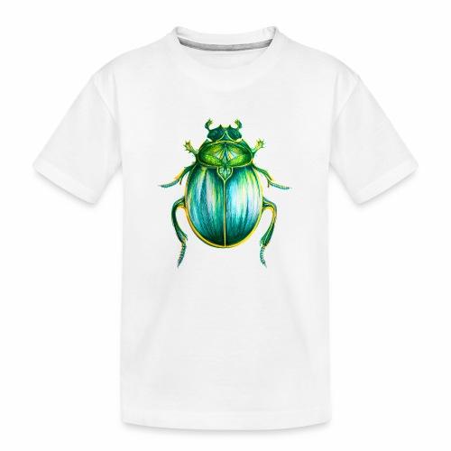 Skarabäus Lineart - Teenager Premium Bio T-Shirt