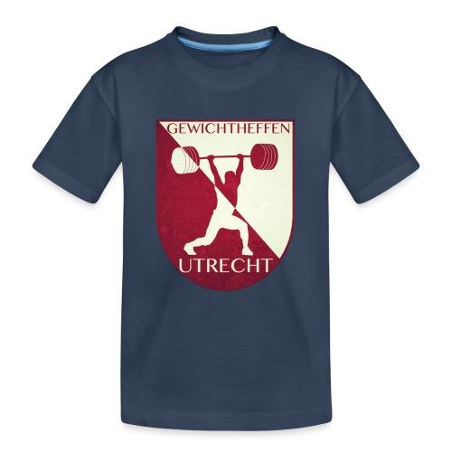 Oldschool Logo - Teenager premium biologisch T-shirt
