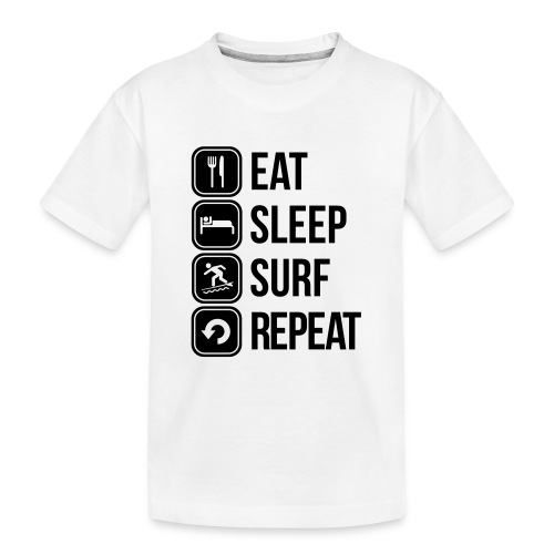 surfboard - Teenager premium biologisch T-shirt