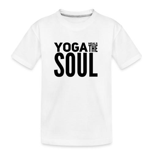 yogalover - Teenager premium biologisch T-shirt