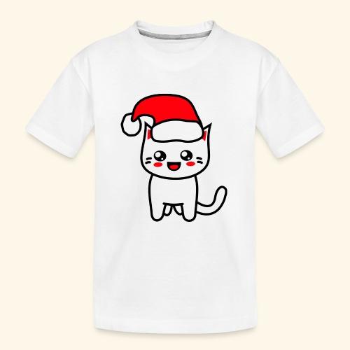Kawaii Kitteh Christmashat - Teenager Premium Bio T-Shirt