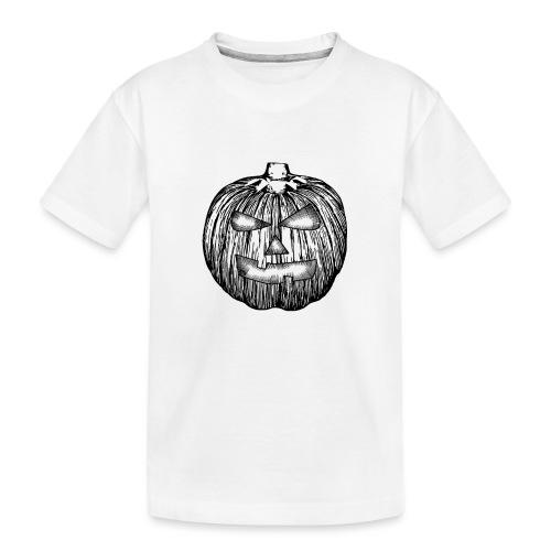 Pumpkin kürbis halloween - Teenager Premium Bio T-Shirt