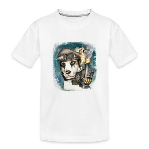 Steampunk Dog #2b - Maglietta ecologica premium per ragazzi