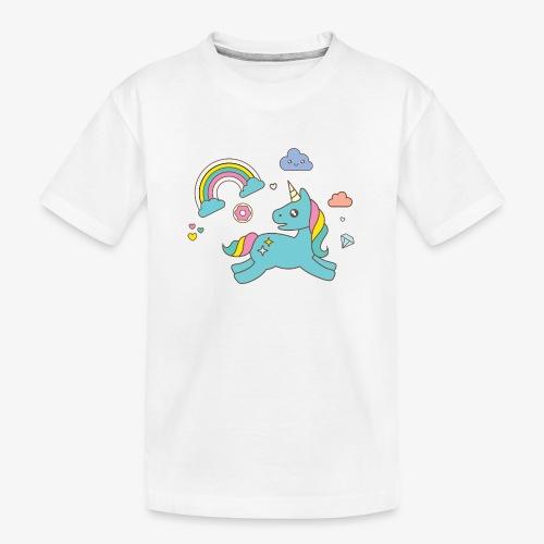 colored unicorn - Teenager Premium Organic T-Shirt