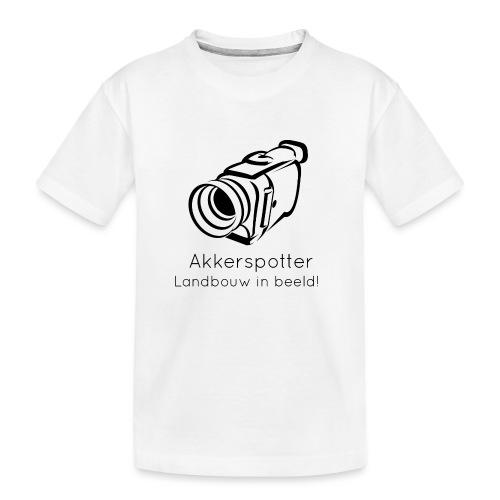 Logo akkerspotter - Teenager premium biologisch T-shirt