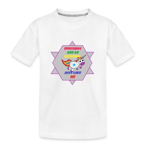 Unicorn with joke - Teenager Premium Organic T-Shirt