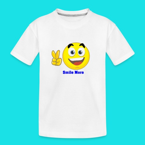 smile more - Teenager premium biologisch T-shirt