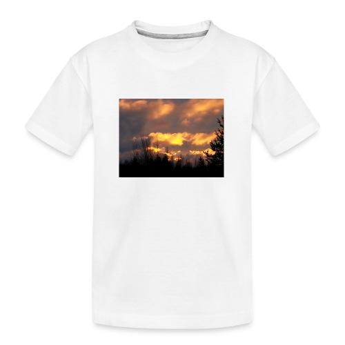 Iltarusko - Teinien premium luomu-t-paita