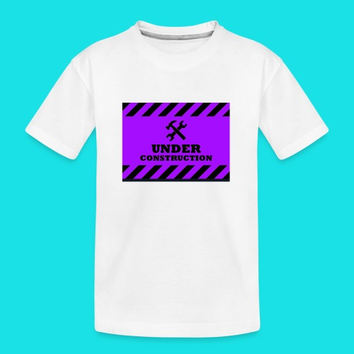 under construction - Teenager premium biologisch T-shirt