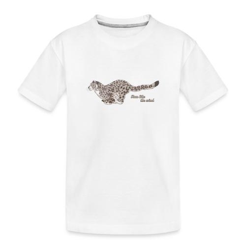 Snow Leopard: Run Like the Wind - Ekologiczna koszulka młodzieżowa Premium