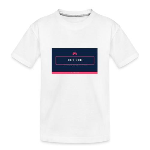 Logo 2 - Ekologisk premium-T-shirt tonåring