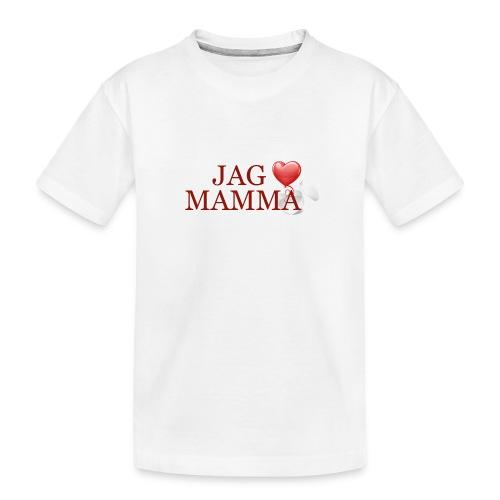 Jag älskar mamma - Ekologisk premium-T-shirt tonåring