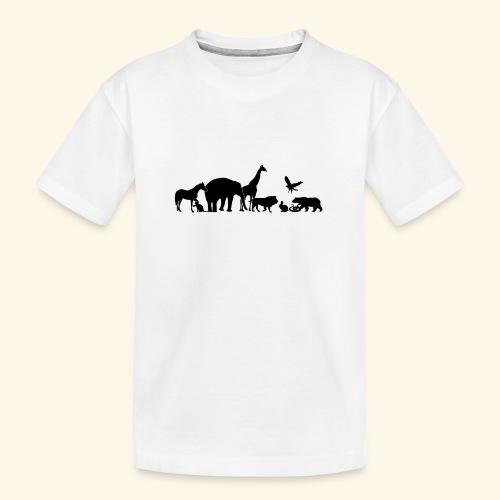 Silhouetten von Tieren - Teenager Premium Bio T-Shirt