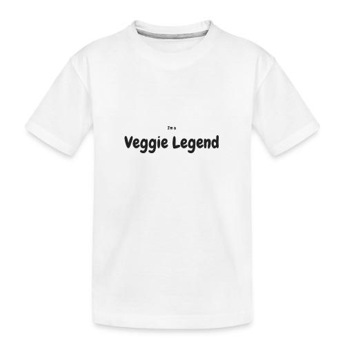 I'm a Veggie Legend - Teenager Premium Organic T-Shirt