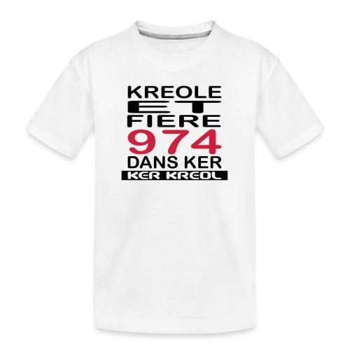 Kreole et Fiere - 974 ker kreol - T-shirt bio Premium Ado