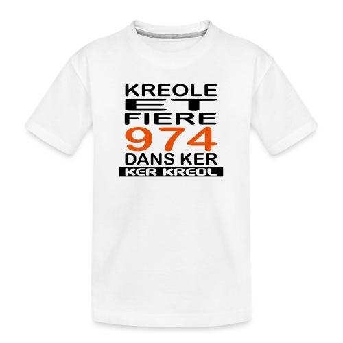 974 ker kreol - Kreole et Fiere - T-shirt bio Premium Ado