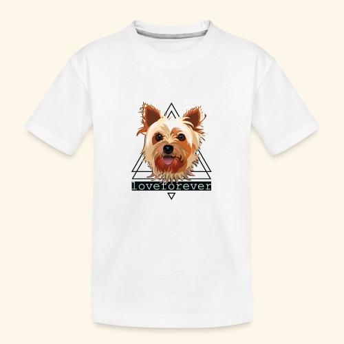 YORKIE LOVE FOREVER - Camiseta orgánica premium adolescente